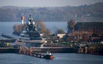 "Superyacht ""Nord"" in the Kiel Fjord"